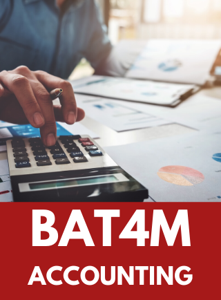 BAT4M, Grade 12 Accounting Online Course